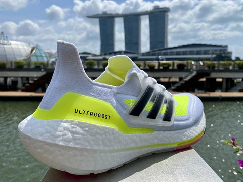 Adidas Ultraboost 21 Running Shoes Side View