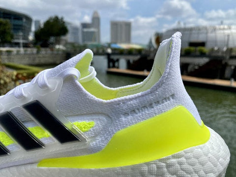 Adidas Ultraboost 21 Running Shoes Heel Lock, Back of the shoes