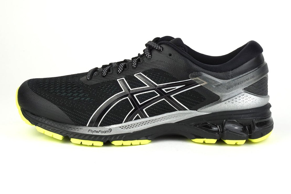 Asics gel-kayano 26 lite-show men's stability running shoes for flat feet, black irun irunsg