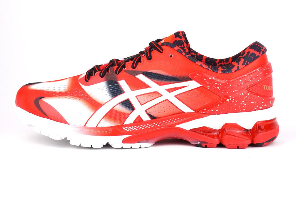 ASICS GEL-KAYANO 26 RED TOKYO MARATHON, 1011A952-600 RUNNING SHOES STABILITY FLAT FOOT
