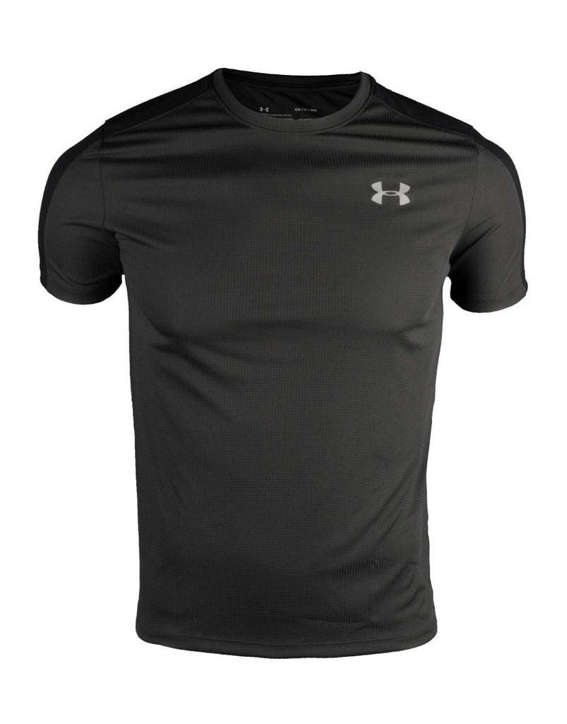 Men's UA Speed Stride Short Sleeve T-SHIRT BLACK IRUN IRUNSG