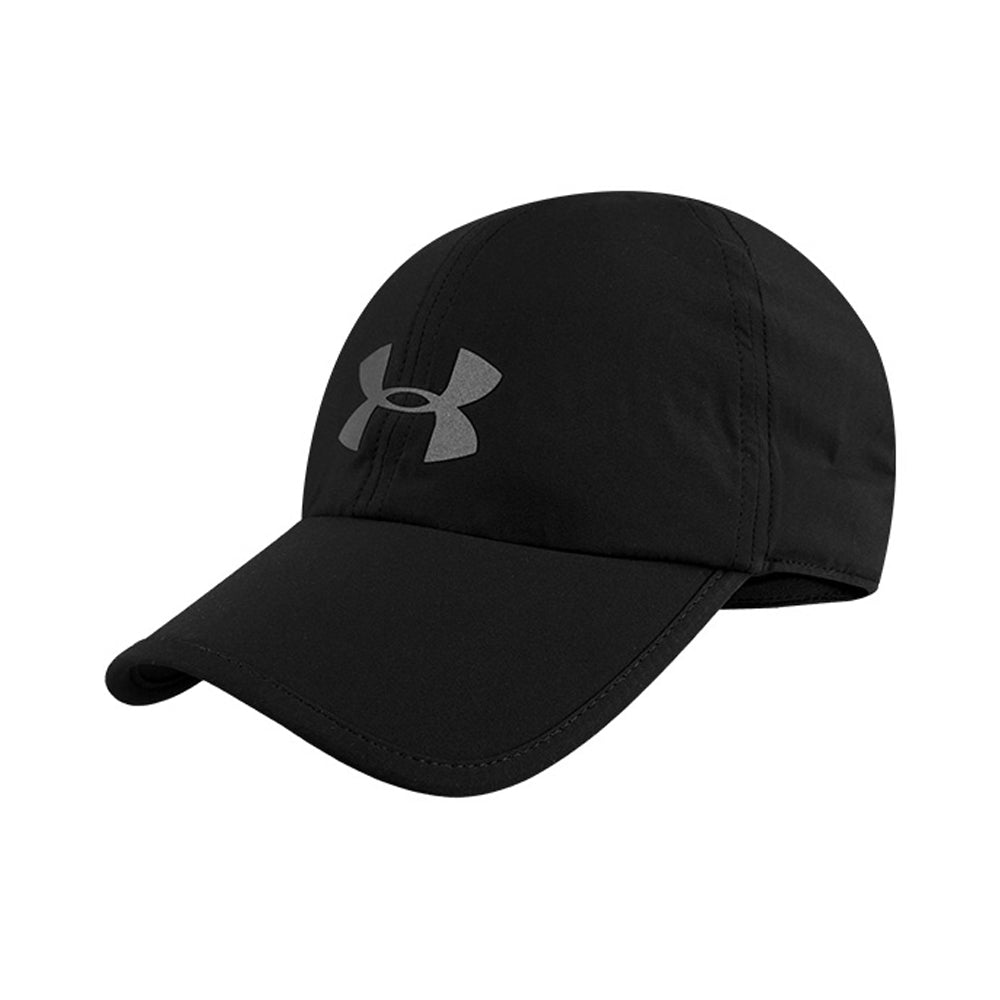 UA RUN SHADOW CAP UNISEX RUNNING HEADWEAR black 1351463-012 IRUN IRUNSG