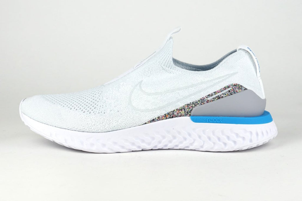Nike Epic PHANTOM REACT FLYKNIT AW Men's Running Shoes laceless white irun irunsg