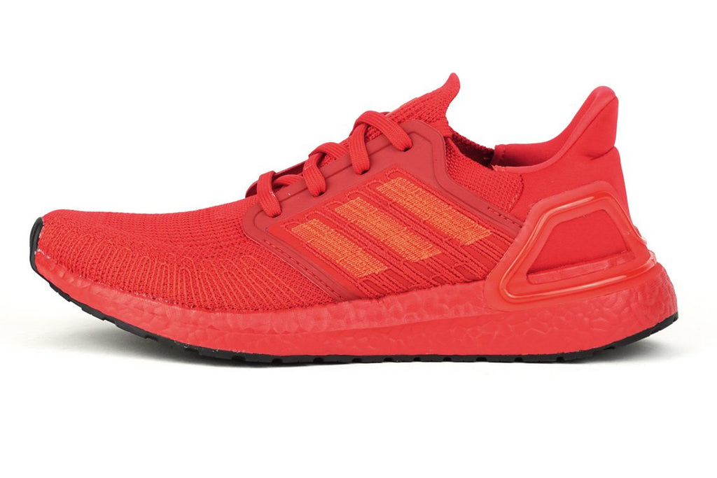 adidas ultraboost 20 red running shoes irun irunsg EG0700