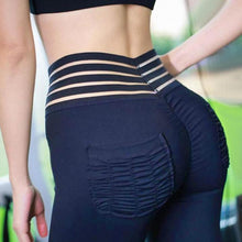 Load image into Gallery viewer, Striped High Waist Pocket Leggings 😍 - Fit  Beauty Ness