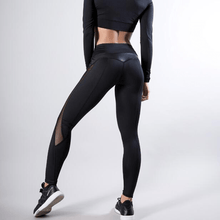 Load image into Gallery viewer, Black Mesh Splice Fitness Leggings 😍 - Fit  Beauty Ness