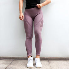 Load image into Gallery viewer, Seamless Mesh Flex Tummy Push Up Leggings - Fit  Beauty Ness