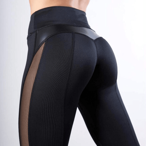 Black Mesh Splice Fitness Leggings 😍 - Fit  Beauty Ness