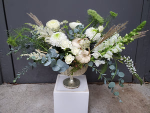 Sustainable Seasonal Pedestal Arrangement