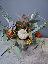 Load image into Gallery viewer, Sustainable Seasonal Pedestal Arrangement
