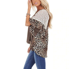 Load image into Gallery viewer, Leopard Print Lace Tee