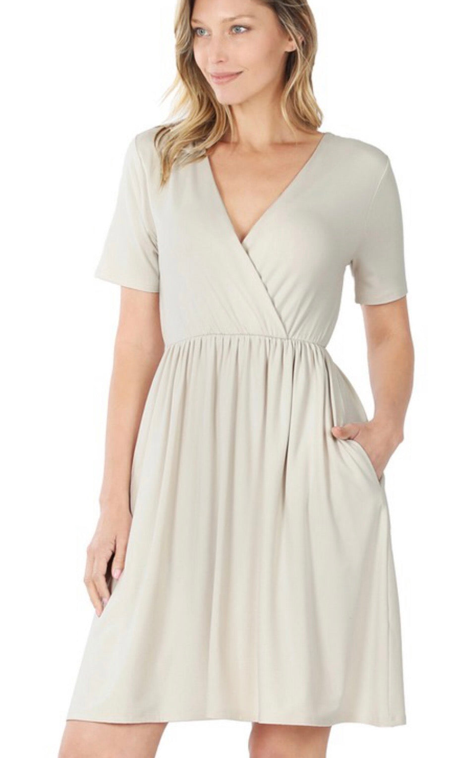 Light Beige Butter Soft Spring Dress