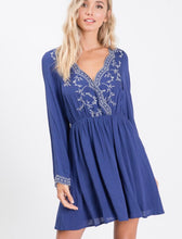 Load image into Gallery viewer, Boho Blue Swing Dress