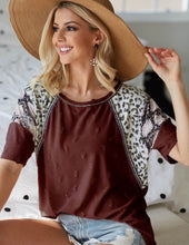 Load image into Gallery viewer, Distressed Burgundy Animal Print Top