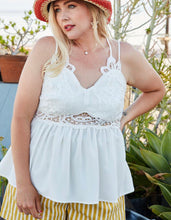 Load image into Gallery viewer, Crochet Lace Top Plus Size