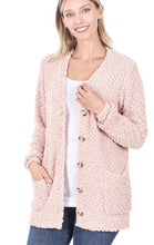 Load image into Gallery viewer, Blush Pink Popcorn Cardigan