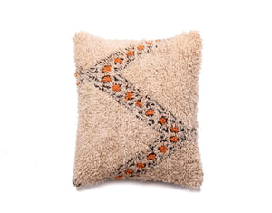 Beni Ouarain Pillow, Vintage Moroccan Berber Cushion