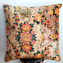 Load image into Gallery viewer, Berber Velvet Pillow - Vintage Moroccan Floor Cushion VKFP053