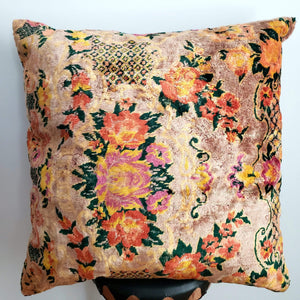 Berber Velvet Pillow - Vintage Moroccan Floor Cushion VKFP053