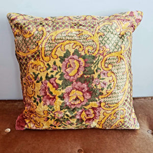 Berber Velvet Pillow - Vintage Moroccan Floor Cushion VKFP054