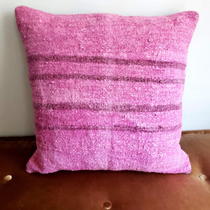 Berber Wool Pillow - Vintage Moroccan Floor Cushion VKFP039