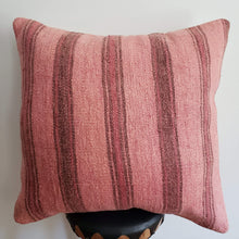 Load image into Gallery viewer, Berber Wool Pillow - Vintage Moroccan Floor Cushion VKFP040