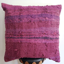 Load image into Gallery viewer, Berber Wool Pillow - Vintage Moroccan Floor Cushion VKFP041
