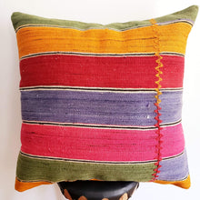 Load image into Gallery viewer, Berber Wool Pillow - Vintage Moroccan Floor Cushion VKFP046