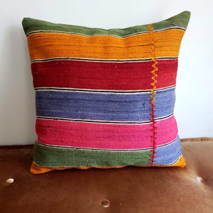 Berber Wool Pillow - Vintage Moroccan Floor Cushion VKFP046