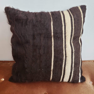 Berber Wool Pillow - Vintage Moroccan Floor Cushion VKFP049