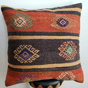 Berber Wool Pillow - Vintage Moroccan Floor Cushion VKFP050