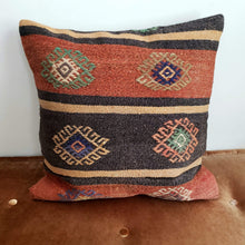 Load image into Gallery viewer, Berber Wool Pillow - Vintage Moroccan Floor Cushion VKFP050
