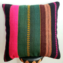 Load image into Gallery viewer, Berber Wool Pillow - Vintage Moroccan Floor Cushion VKFP051