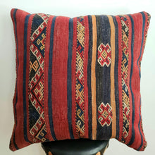 Load image into Gallery viewer, Berber Wool Pillow - Vintage Moroccan Floor Cushion VKFP052