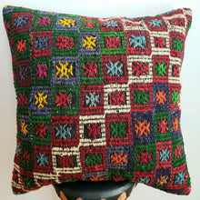 Load image into Gallery viewer, Berber Wool Pillow - Vintage Moroccan Floor Cushion VKFP055