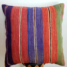 Load image into Gallery viewer, Berber Wool Pillow - Vintage Moroccan Floor Cushion VKFP056