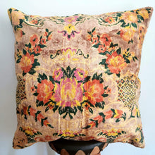 Load image into Gallery viewer, Berber Wool Pillow - Vintage Moroccan Floor Cushion VKFP057