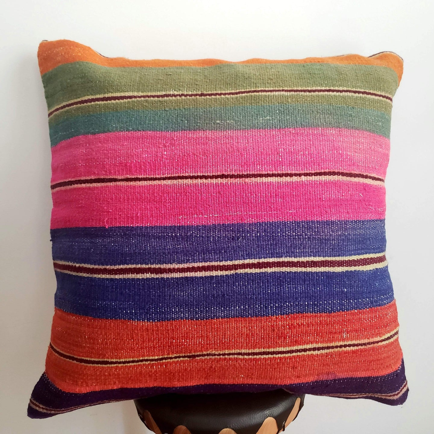 Berber Wool Pillow - Vintage Moroccan Floor Cushion VKFP062