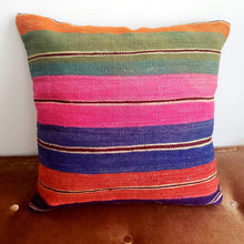 Load image into Gallery viewer, Berber Wool Pillow - Vintage Moroccan Floor Cushion VKFP062