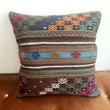 Load image into Gallery viewer, Berber Wool Pillow - Vintage Moroccan Floor Cushion VKFP064