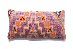 Berber Wool Pillow, Vintage Moroccan Cushion
