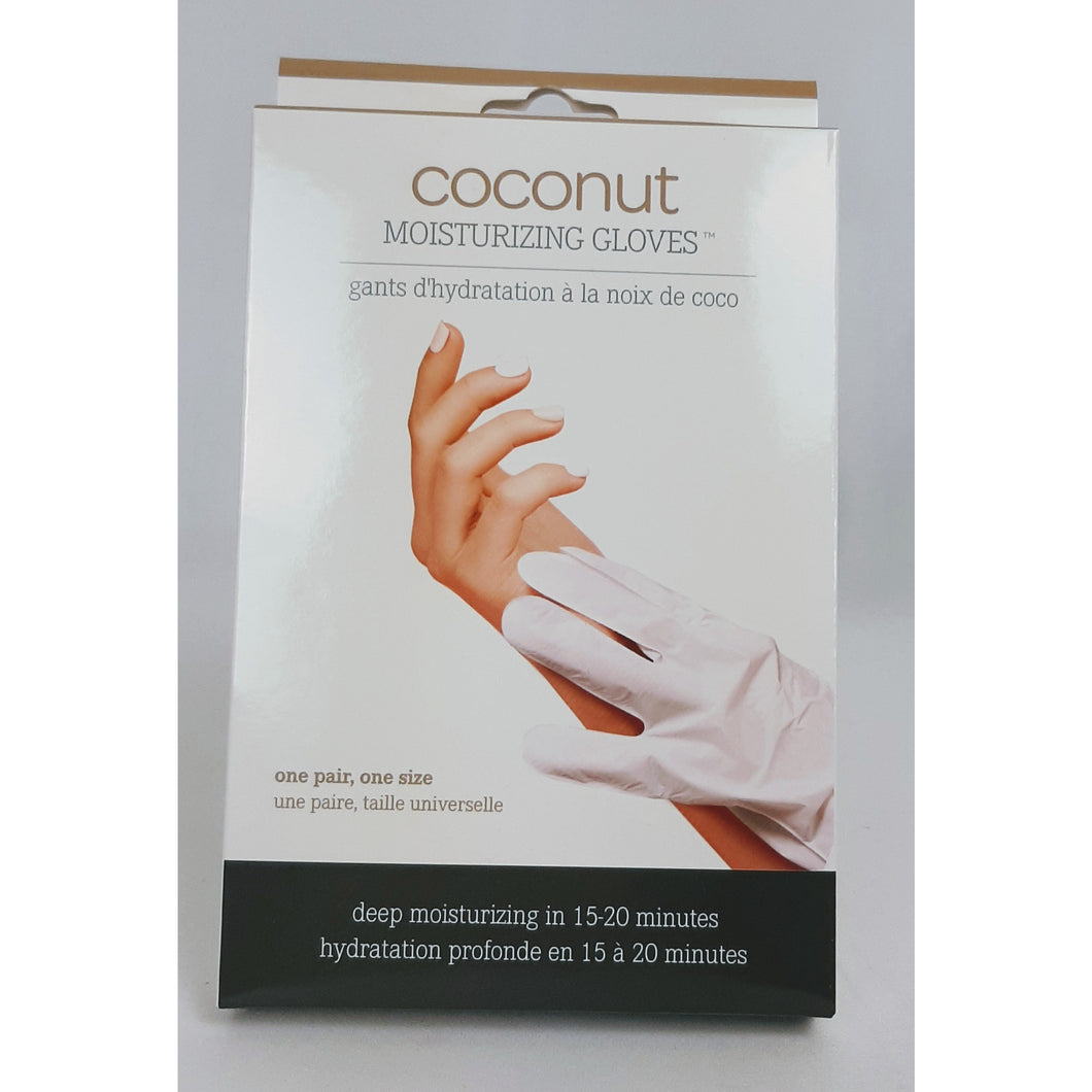 One pair one sdize coconut moisturizing gloves leave your hands soft and supple in 15 to 20 minutes.