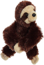Load image into Gallery viewer, Wristamals. Soft, cuddly, take anywhere, these critters will become your childs' new best friend! Choose from Monkey, Sloth, Lion or Giraffe. 9 inches in size. High quality materials make for a soft and fluffy touch. Quality materials for a soft cuddling experience Hook and Loop Velcro on the arms. Portable and stylish