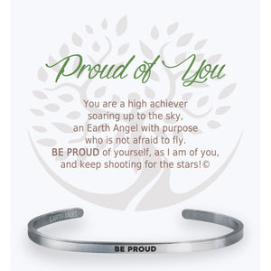 "Each cuff bracelet is from a line of high quality stainless-steel. Our bracelets each include a gift box and card of caring instructions making them the perfect present for all ""The Angels of Our Lives"".  Choose from:  Mom, Sister, Friend, Teacher, Daughter, Grand-daughter, Grandma, Strength, Nurse, Birthday, Love, Proud of You"