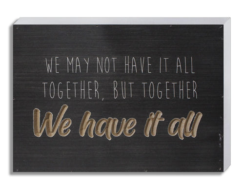Engraved wood plaque. 10