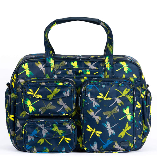 The Puddle Jumper Duffel has the same great functionality and style as the other PJ's but in an east/west design. While incorporating the original exterior pocket design and adding more to the interior, this bag will keep you organized for home, work and play. No matter where you're going - you'll be sure to love this bag!  Dimensions: 15