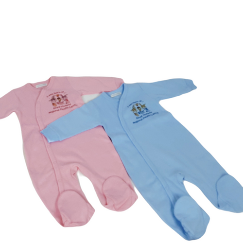 A perfect keepsake for the newest member of the family! This footed one-piece in soft cotton interlock features a sweet little ark design with