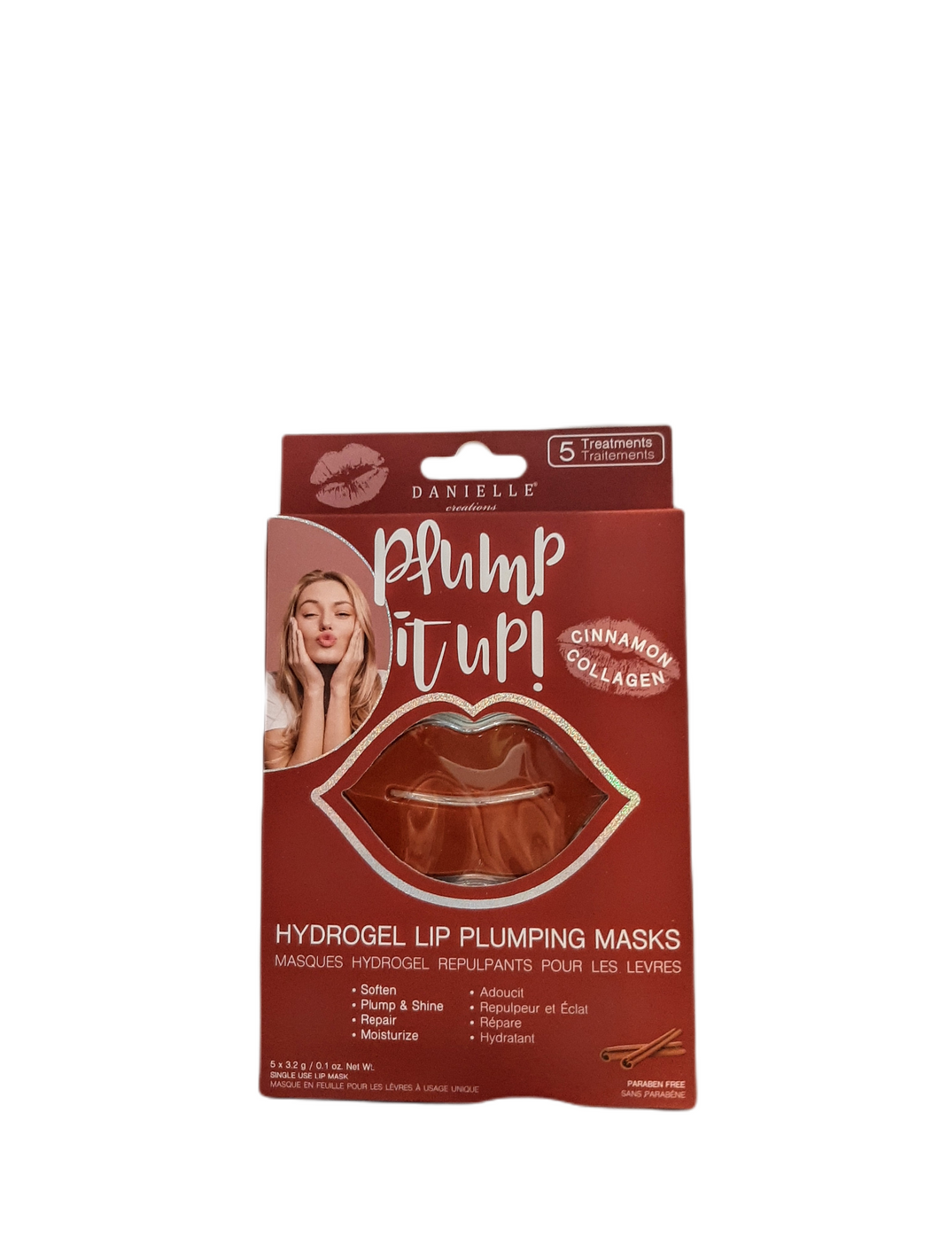 Say goodbye to dry, chapped lips and hello to a PERFECT POUT! These masks feature a soft, gel-like texture that gently adheres to lips for instant hydration.  Infused with COLLAGEN and CINAMMON to reduce the appearance of fine lines and helps lips look fuller and more plumped.  Paraben free