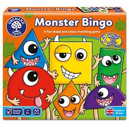 Monster Bingo is perfect for teaching basic shape and colour skills as children are encouraged to identify and read aloud both the shape and colour before looking for the corresponding monster on their board. Features a range of shapes from simple shapes like squares and circles to semi-circles and diamonds. Children will also love looking at the cheeky monsters and the silly faces they are pulling!