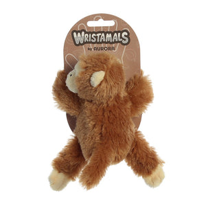 Wristamals. Soft, cuddly, take anywhere, these critters will become your childs' new best friend! Choose from Monkey, Sloth, Lion or Giraffe. 9 inches in size. High quality materials make for a soft and fluffy touch. Quality materials for a soft cuddling experience Hook and Loop Velcro on the arms. Portable and stylish